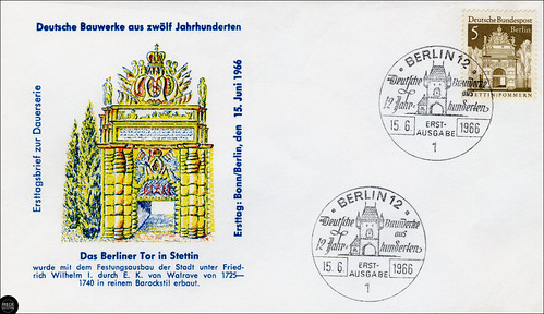 Das Berliner Tor in Stettin, Ersttagsbrief zur Dauerserie