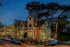 Green Gables Inn -- DSC1349--Pacific Grove, CA (Lance & Cromwell back from a Road Trip) Tags: california nightphotography monterey availablelight queenanne sony victorian montereycounty pacificgrove a57 greengables montereypeninsula pacificgroveca sonyalpha greengablesinn sal1650