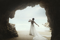 Ocean's Embrace (Nico Nordström) Tags: pictures ocean california travel pink portrait people white color sexy art water colors fashion silhouette cali portraits 35mm pose hair lens gold golden design photo high model nikon colorful waves dress purple angle photos modeling designer fineart fine models review wide michelle picture posing malibu caves dresses portraiture cave flowing spine gown gowns hebert couture poses contrapposto dreamcatcher haircolor lenses highfashion hébert flowy d810 pravana contropposto michellehebert brittanysifford michellehébert niconordstrom niconordstromphotography niconordström niconordströmphotography contropossto michellehébertartandfashion