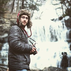 Portrait of my brother Kyle today at Decew Falls (mitchell.sager) Tags: ontario ice nature explore waterfalls decew explorecanada exploreontario decewfallsmorningstarmill