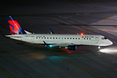 N603CZ (Rich Snyder--Jetarazzi Photography) Tags: california ca plane airplane holding waiting rj sfo aircraft jet arrival cp compass airliner millbrae embraer arriving jetliner sanfranciscointernationalairport ksfo regionaljet cpz dtower deltaconnection e175 ramptower ejet compassairlines n603cz emb170200lr shadowtower