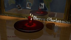 Merry Christmas 2014 (Wasfi Akab) Tags: world life christmas street xmas original red italy snow man color art water beautiful beauty modern bread table geotagged mirror florence kid still war europe strada artist italia candle artistic render iraq poor east flame tuscany painter firenze blender lonely merry exile middle toscana holliday iraqi cgi artista tuscan middleast akab wasfi