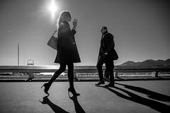 So Cannes #6 (_Franck Michel_) Tags: shadow bw woman sun white black fashion glasses nw riviera noir leg ombre blond blanc flair croisette jambe welloff