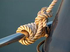 Festmacherseil - rope (dasWebweib) Tags: boot rope ostsee seil