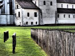 Bretterzaun (Paramedix) Tags: church fence germany deutschland kirche olympus monastery zaun bodensee kloster badenwürttemberg mft reichenau em5