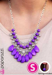 Glimpse of Malibu Purple Necklace K1 P2410-4