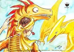 ตะเบงชะเวตี้ บนหลัง Raptor ซึ่งกำลังรบกับยะไข่