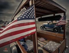 Classic Summer In Cape Cod (Dapixara) Tags: summer classic cars car capecod flag american americana automobiles dapixara