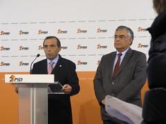 Álvaro Amaro e José Matos Rosa em Conferência de Imprensa