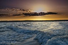 Boat Sunrise (JamieMarie Oaksford) Tags: ocean sea seascape nature clouds skyscape landscape sand australia wa westernaustralia waterwater landscae seawater beautifulnature oceanscape beautifulcolours jindalee beachesofaustralia beachphotogrpahy jindaleebeach