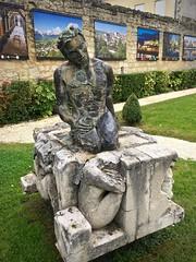 Outdoor gallery (kimbar/Thanks for 2.5 million views!) Tags: sculpture france garden hoteldeville cityhall saintemilion