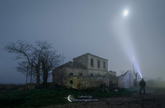 Explorer (Gabriel Glez.) Tags: nightphotography mist abandoned station fog nikon explorer ghost tokina mistery abandonedstation ghoststation sliktripods noctografia