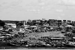Street Scene Africa (emkamau) Tags: africa street blackandwhite beach fishing fishermen gimp canoes linux boast archlinux geeqie