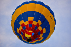 Up and away (tenich) Tags: sky balloons fire hotair balloon australia hotairballoon canberra hotairballoons inthesky
