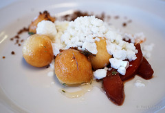20160607-08-Donuts with lemon ricotta and poached pear at Smolt Kitchen in Hobart (Roger T Wong) Tags: australia donut tasmania hobart ricotta iv thyme poachedpear 2016 sigma50mmf28exdgmacro sigma50macro metabones smartadapter rogertwong sonya7ii sonyilce7m2 sonyalpha7ii smoltkitchen