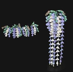 Wisteria Kanzashi Set. Maiko Henshin in Fuji. (Bright Wish Kanzashi) Tags: fuji purple handmade silk violet lilac wisteria originaldesign kanzashi tsumamizaiku customfuji