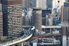 Highway passes through the inside of the building (osamujpn) Tags: japan highway tunnel osaka expressway umeda hanshin skybuilding