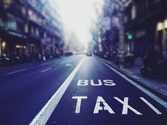 So the hoax goes on (Sator Arepo) Tags: barcelona road street urban espaa bus spain loneliness empty taxi catalonia iphone iphone6