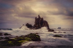 Volcanic whims (Blai Figueras) Tags: sea sky panorama costa sun seascape beach water clouds sunrise landscape coast mar seaside agua rocks flickr stones horizon atmosphere playa paisaje canarias amanecer le cielo tenerife eden paraiso rocas