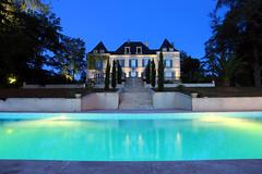 Domaine de la Fauconnie (tomh260) Tags: de la fauconnie campsegret france house pool dusk dordogne villa domaine