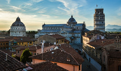 Pisa Sunset 20 (chriswalts) Tags: travel sunset italy streets tower night pisa leaning