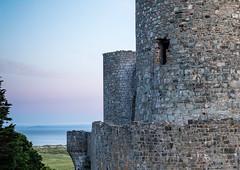 Harlech Castle Dawn 2 (tonymorrison.tepd) Tags: uk urban sun castle weather wales architecture landscape year places type harlech sunsetsunrise 2016