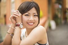 Akino (muuu34) Tags: portrait cute sexy girl beautiful field japan speed photography japanese high blurry soft pretty open bokeh outdoor background flash wide headshot chick porn sync shallow chic nikkor depth kawasaki creamy musashi     sakazaki  50mmf14g