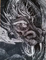 Dragon (DymphieH) Tags: postcards received fantasy gone