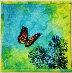 Butterfly (Babskhg) Tags: summer art butterfly quilt mixedmedia textile fabric printing quilting artquilt freemotionquilting fmq