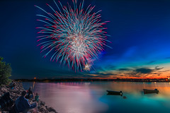 Happy birthday Canada (Alec_Hickman) Tags: light sunset sky people seascape canada water landscape boats nikon colours fireworks wideangle celebration 1635 d810