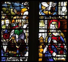 Annunciation (English glass, 16th Century) (Simon_K) Tags: cambridge college university chapel stainedglass tudor kings cambridgeshire eastanglia 16thcentury cambs