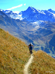Autumn Riding around Verbier  (83) (Carl and Sian) Tags: orange alps switzerland mtb mountainbiking verbier singletrack orangefive bikeverbier alpinesingletrack carlandsian