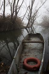 Red (Massimo_Discepoli) Tags: trees red mist lake water fog boat trasimeno
