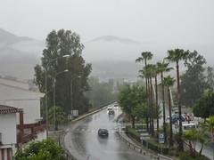 Spain, Andaluca (LidyvN) Tags: road city mist mountain tree car rain weather shower grey andaluca spain traffic palmtree outlook sight crtama