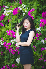 Bo Yn (Le Minh Tuan) Tags: portrait people woman girl beautiful beauty female asian vietnamese outdoor bougainvillea prettygirl outdoorportrait