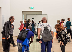 A New Tate - #3 peering in (seligr) Tags: uk london art thames south mirrors bank tatemodern galleries bankside tates switchhouse