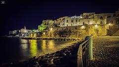 Vieste Lungomare (Daniele Vettese) Tags: vieste puglia vacanza notte lungomare estate colori lunghe esposizione notturna
