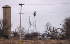 3 in 1 (WORLDS APART PHOTO) Tags: wisconsin rural decay farming rustic windmills agriculture ruraldecay windpower sewisconsin windmillwednesday