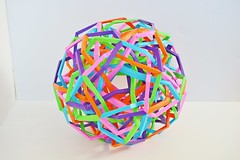 Ultrasphere Five Interlocking Wrinkled Tetrahedrically Triaugmented Hexahedrically Twisted Augmented Tetrahedra v5 (Byriah Loper) (Byriah Loper) Tags: paper origami polygon paperfolding polyhedron origamimodular byriahloper