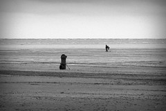 Southport Beach (togwood) Tags: sea beach seaside sand cloudy picasa walkers southport filmgrain vigentte
