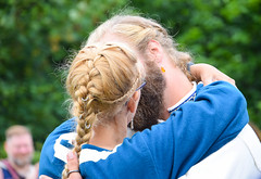 Wedding kiss (Maria Eklind) Tags: wedding summer people nature se kiss market sweden outdoor crafts sverige viking trelleborg weddingkiss hantverk skneln vikingage vikingwedding trelleborgen vikingamuseum vikingamarknad