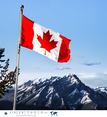 Canadian flag over the Rockies in Banff, Alberta (Vincent Demers - vincentphoto.com) Tags: alberta banff banffnationalpark canada canadianflag canadianrockies drapeau drapeaucanadien drapeauducanada flag flagofcanada landscape lesrocheuses montagne montganes mountain mountainrange mountains naturalbeauty nature northamerica parcnationaldebanff paysage rockies travel traveldestination travellocation travelphoto travelphotography traveling trip voyage improvementdistrictno9 ca