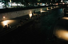 - (june1777) Tags: street light 2 night t stream fuji ar superia 28mm snap 400 seoul konica pushed autoreflex f35 xtra hexanon cheonggye