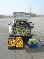 Fruit (breedlux) Tags: orange apple car fruit fresh mano vendor melon sell seller