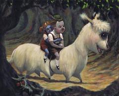 110624 (kevinmcsherryartist) Tags: alien cyclops hansel gretel forest wood child children evil disturbed fairy story fairytale tale grimm dublin irl