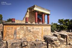 North Entrance with charging bull fresco. Knossos (Heraklion/ Crete/ Greece) (Explore Jul 20, 2016 #398) (Abariltur) Tags: spain greece crete greekmythology heraklion knossos castelln thelabyrinth daedalusandicarus nikond90 theminotaur kingminosofcrete afsdxnikkor1024mmf3545ged abariltur thecentreofminoan theislandofcrete thedoblehoms symboloftheminoanreligion legendsofknossos