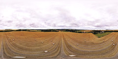 harvest time (alex) Tags: harvest field wheat straw bails barhamdowns kent kentdowns northdowns panorama 360x180 equirectangular 360degrees a2 elhamvalley hay drone quadcopter phantom flight fromabove landscape