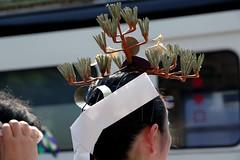 kagurame, Sumiyoshi-taisha, Osaka (jtabn99) Tags: kagurame femaleattendant sumiyoshitaisha shrine osaka japan nippon nihon miko 20160801     hairaccessory