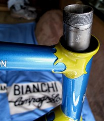 Denison Frame (12) (moonm) Tags: bikes uk 531 classic cycling frame lugs steel vintage
