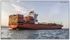 Barco Portacontenedores (Daniel Entrena) Tags: boats containers sea mar caribe